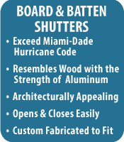 Board Batten Shutters Southern Hurricane Shutters